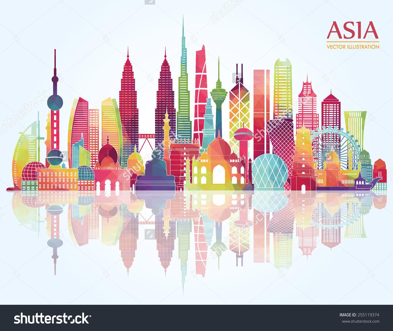 1500x1262 Asian Cityscape Clipart