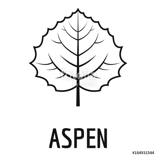 500x500 Aspen Leaf Icon. Simple Illustration Of Aspen Leaf Vector Icon For