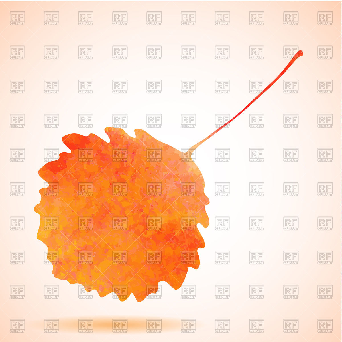 1200x1200 Orange Watercolor Aspen Leaf Vector Image Vector Artwork Of
