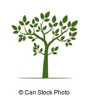 180x195 Aspen Tree Green Leaf Vector Illustration On A White Background.