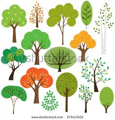 236x246 Birch Forest Royalty Free Stock Vector Art Trees