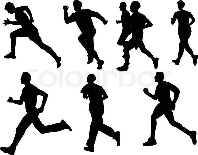 800x627 Athletic Running Collection Eps Stock Vector Colourbox