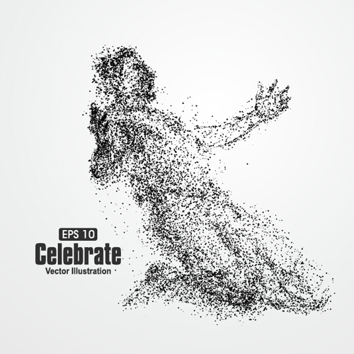 500x500 Particle Composition Athlete Vector Illustration 16 Free Download