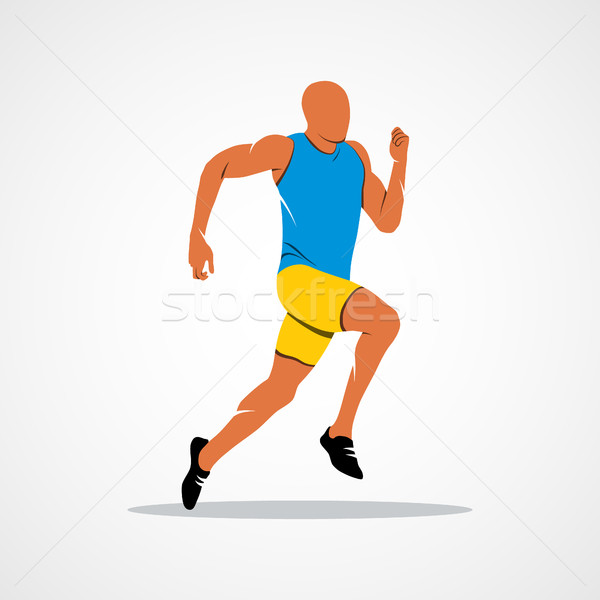 600x600 Running, Sprinter, Athlete Vector Illustration Aleksandr