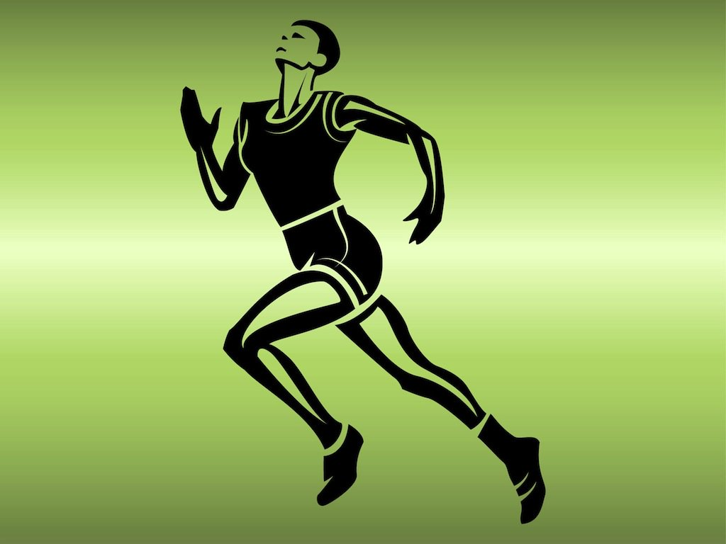 1024x768 Running Athlete Vector Art Amp Graphics