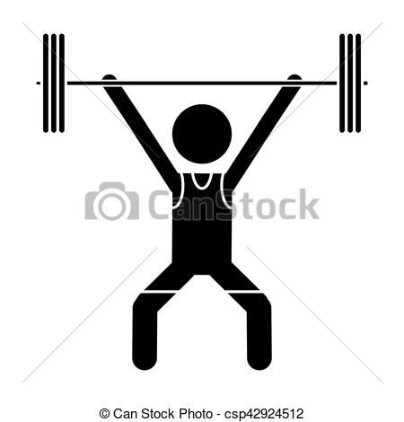450x470 Silhouette Man Weight Lifter Sport Athlete Vector Illustration Eps 10.