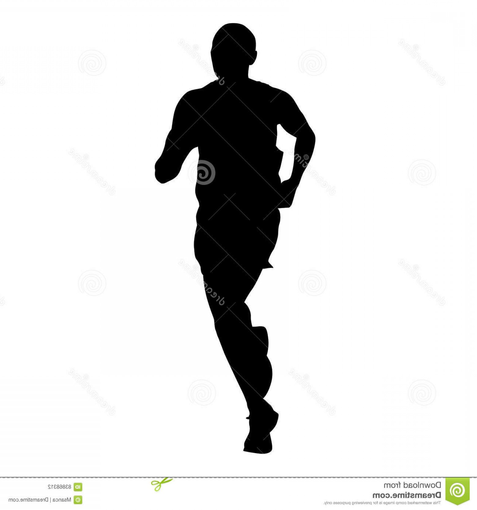 1560x1668 Stock Illustration Marathon Runner Athlete Vector Silhouette