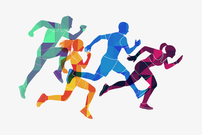 650x434 Vector Athlete, Running Man, Decoration, Line Png And Vector For