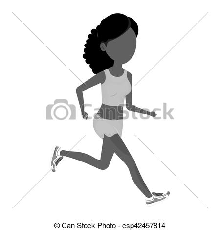 450x470 Woman Running Character Athlete Vector Illustration Design.
