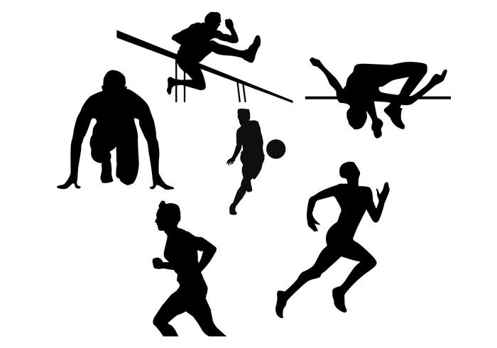 700x490 Athlete Silhouette Vectors