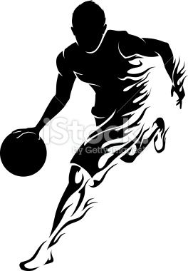 264x380 Flaming Trail Of Basketball Athlete Silhouette. Projects To Try