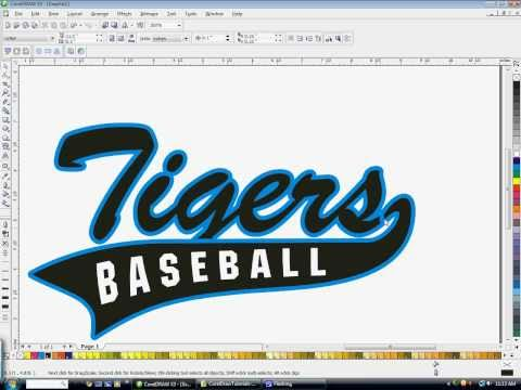 480x360 How To Create Athletic Text With A Tail In Coreldraw With