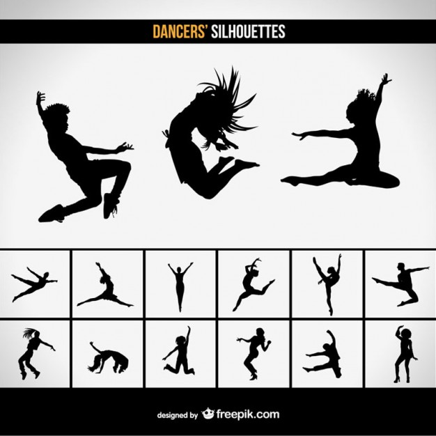 626x626 Moder Dance Vector Silhouettes Vector Free Vector Download In