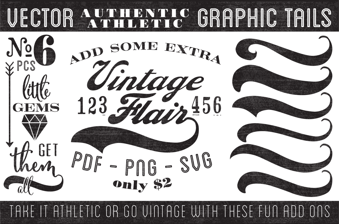 1400x927 Vintage Vector Graphic Tails By Nonna Illustration Amp Design