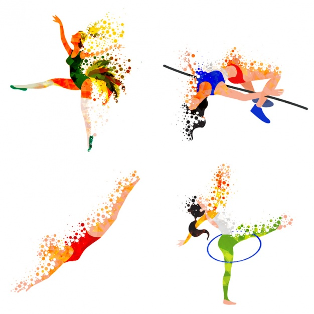 626x626 Abstract Athletes Practising Different Sports Vector Premium
