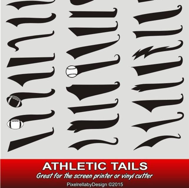 642x641 Athletic Sports Tails Bundle Screenprinting Vinyl Cut Files Etsy
