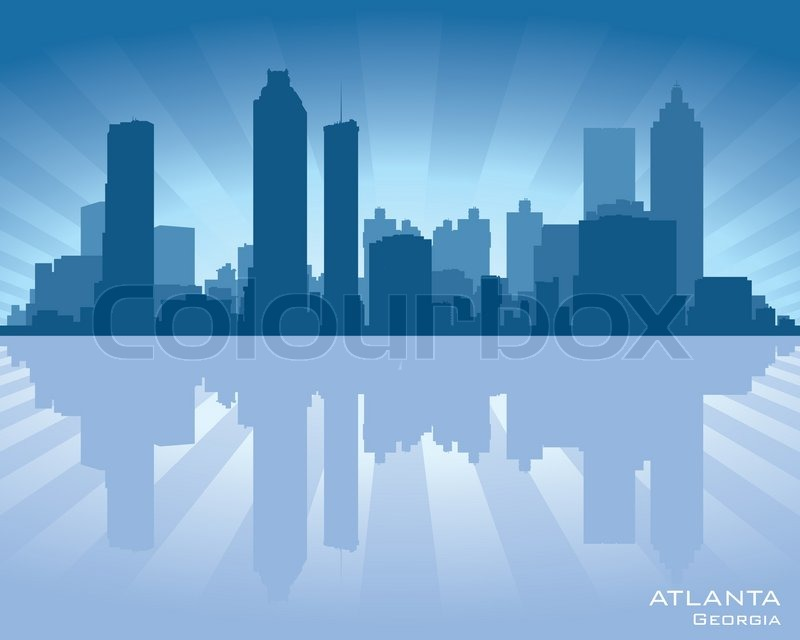 Atlanta City Skyline Vector