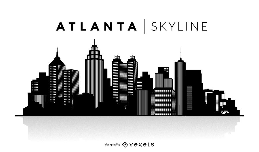 900x529 Atlanta Silhouette Skyline