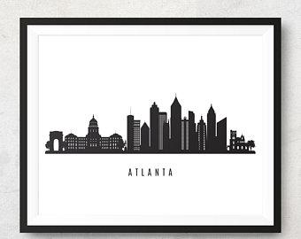 340x270 Atlanta Skyline Etsy
