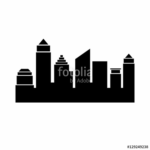 500x500 Atlanta, Georgia Skyline. Detailed Vector Silhouette Stock Image