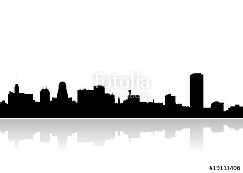 500x357 Buffalo City Scape Vector