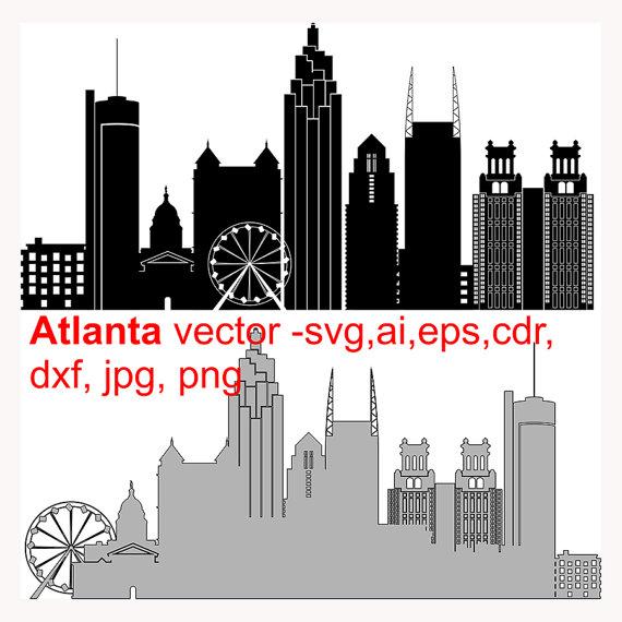 570x570 City Clipart Atlanta Skyline