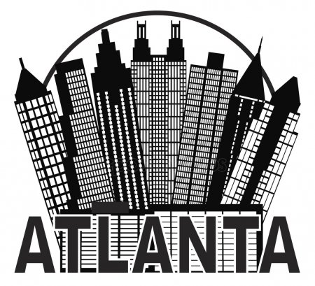 450x409 Download Atlanta City Skyline Vector Clipart Atlanta Skyline