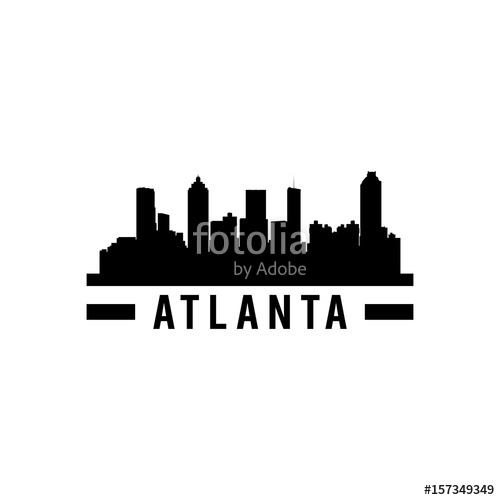 500x500 Silhouette Of City Skyline Landscape Of Atlanta Georgia City