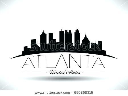 450x338 Atlanta Skyline Silhouette City Silhouette Skyline Vector Instant