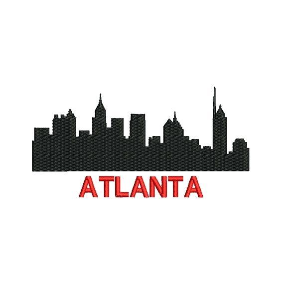 570x570 Atlanta Skyline Silhouette Rights Managed Stock Footage Atlanta