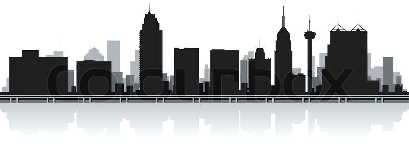 800x323 Atlanta Skyline Silhouette City Vector Zelenbor
