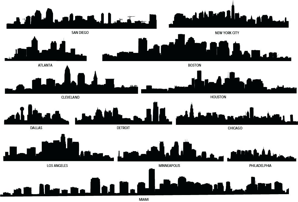 984x668 Atlanta Skyline Silhouette Skyline Silhouette S S Skyline