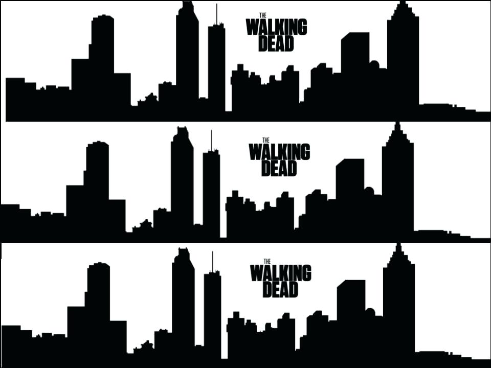 960x720 Atlanta Skyline Silhouette The Walking Dead Silhouette Skyline