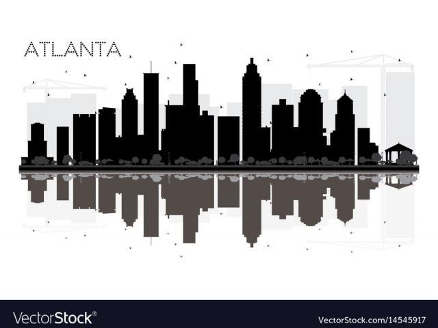 640x480 Atlanta Skyline Vector 12