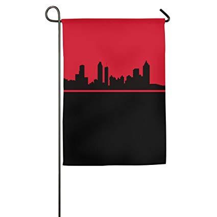 425x425 Atlanta Skyline Vector Garden Flag Indoor Amp Outdoor