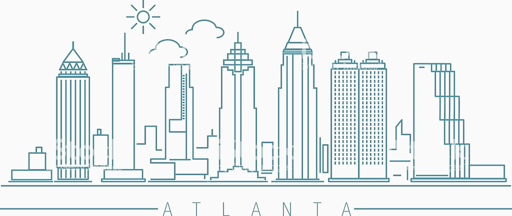 1024x433 Atlanta Skyline Vector Best Of Atlanta Skyline Stock Vector Art