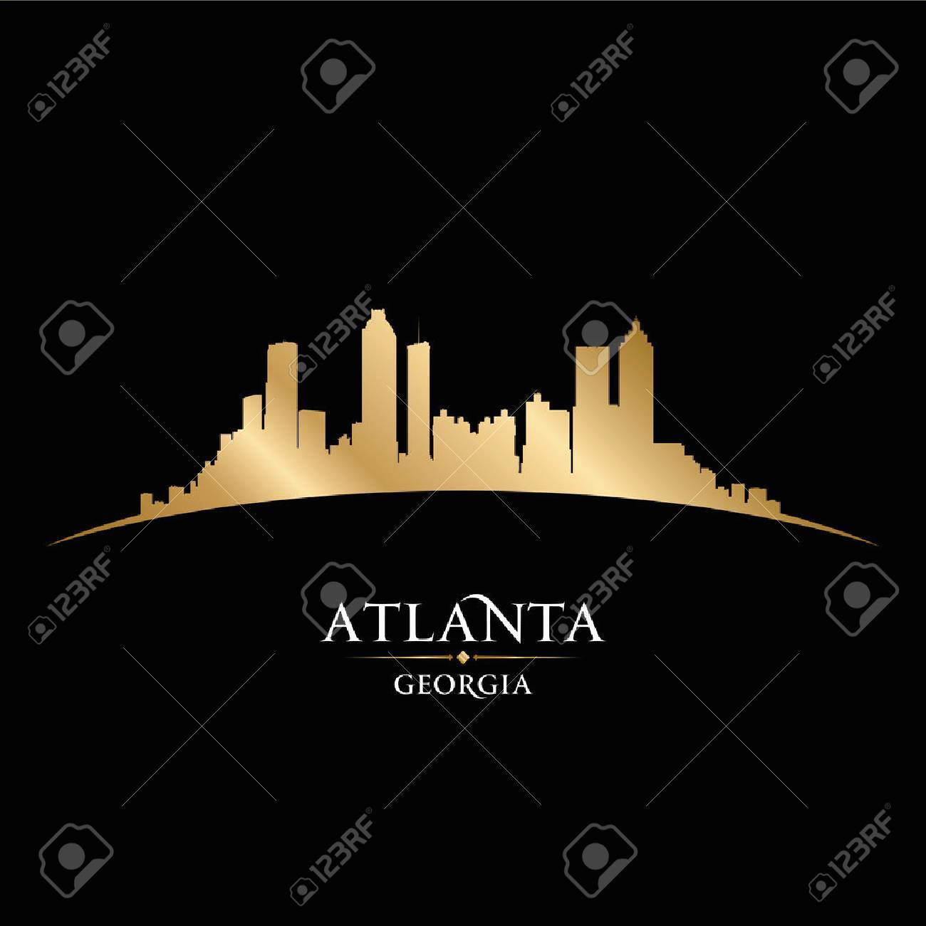 1300x1300 Atlanta Skyline Vector Elegant Atlanta Georgia City Skyline