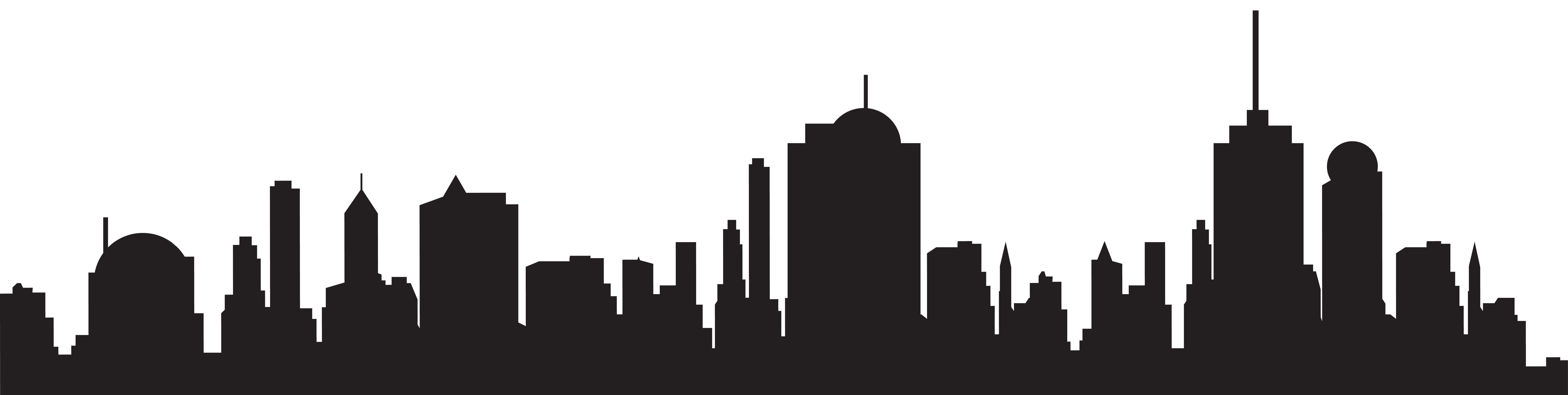 8000x2018 City Skyline Vector 2