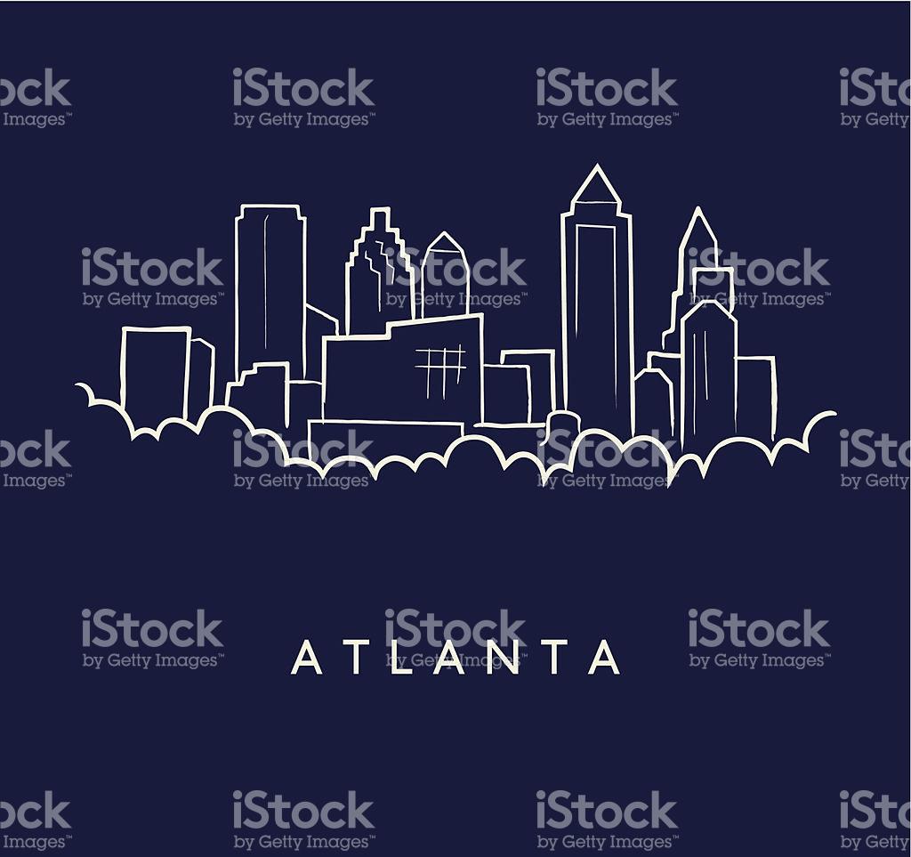 1024x963 City Clipart Atlanta Skyline
