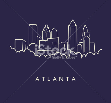 380x356 Cityscape Clipart Atlanta Skyline