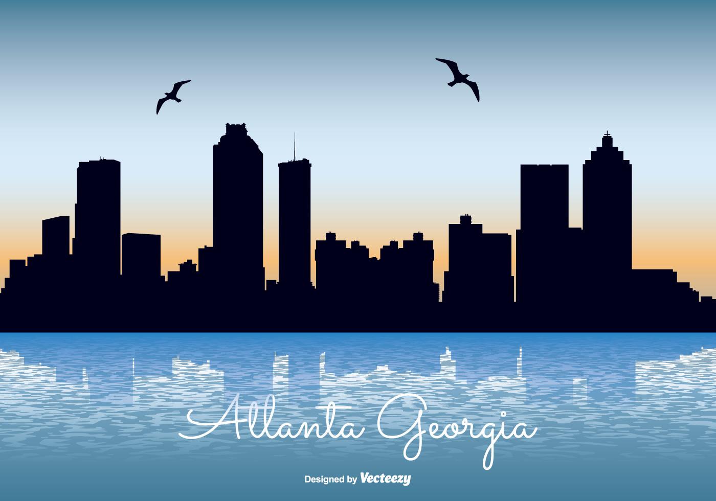 1400x980 Atlanta Skyline Free Vector Art