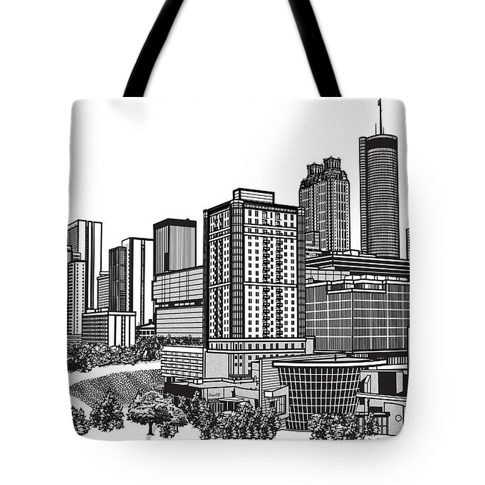 1000x1000 Atlanta Georgia Vector Tote Bag For Sale By Doug Larue