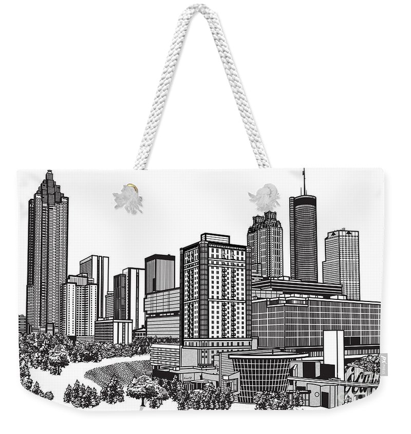 800x845 Atlanta Georgia Vector Weekender Tote Bag For Sale By Doug Larue