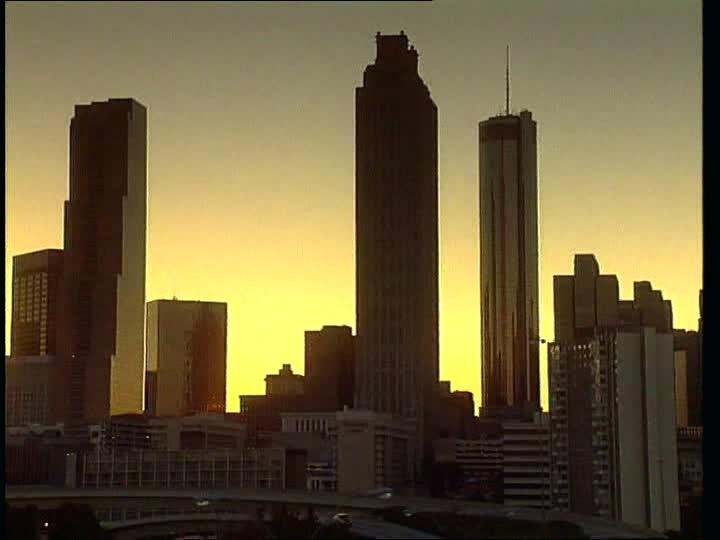 720x540 Atlanta Skyline Silhouette Rights Managed Stock Footage Atlanta