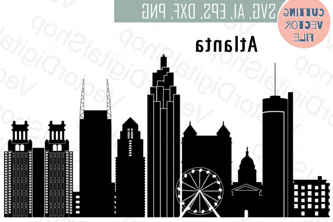 1389x926 Atlanta Vector Georgia Skyline Usa City Svg Jpg Png Dwg Cdr Eps Ai