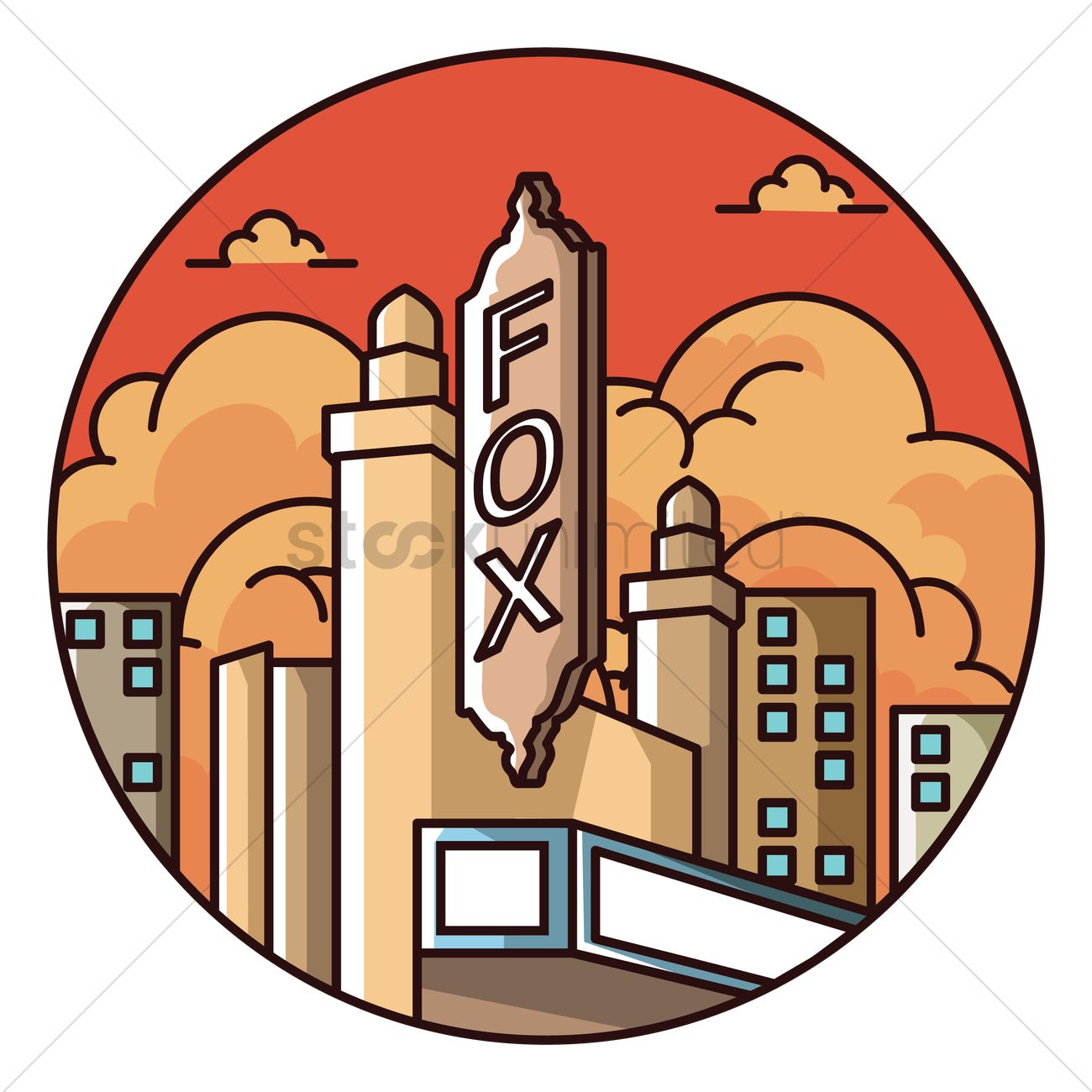 1300x1300 Fox Theatre In Atlanta Vector Image