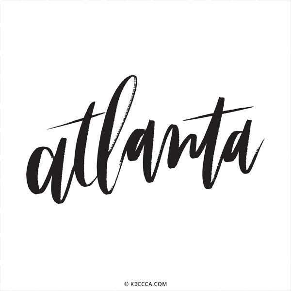 600x600 Hand Lettered Atlanta Vector Clip Art