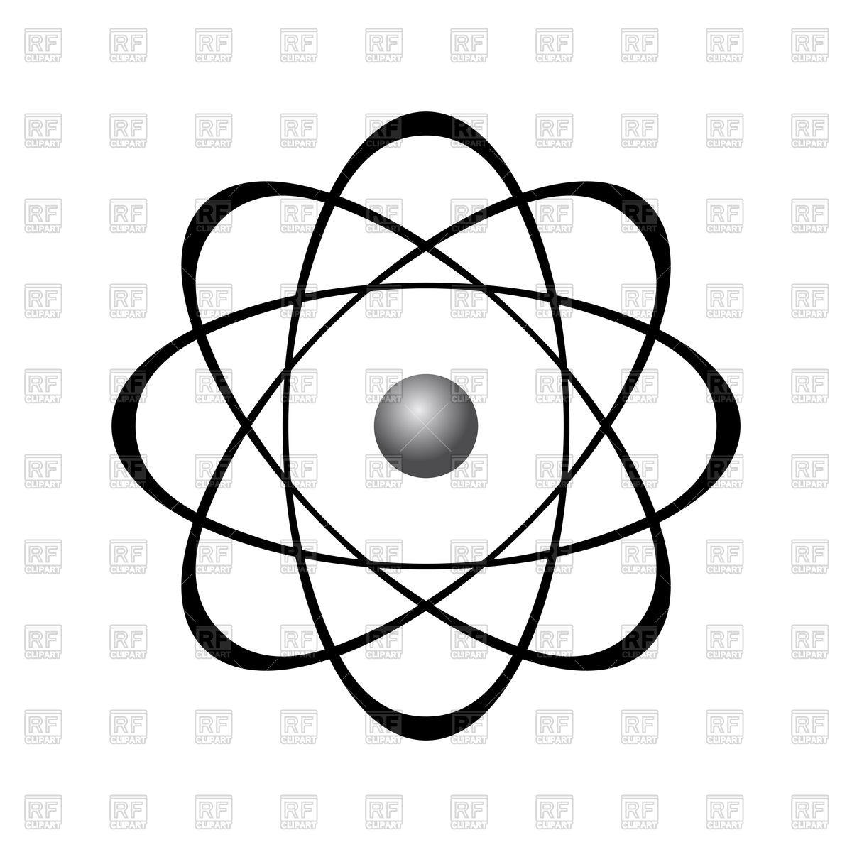 1200x1200 Abstract Model Of Atom Vector Image Vector Artwork Of Healthcare
