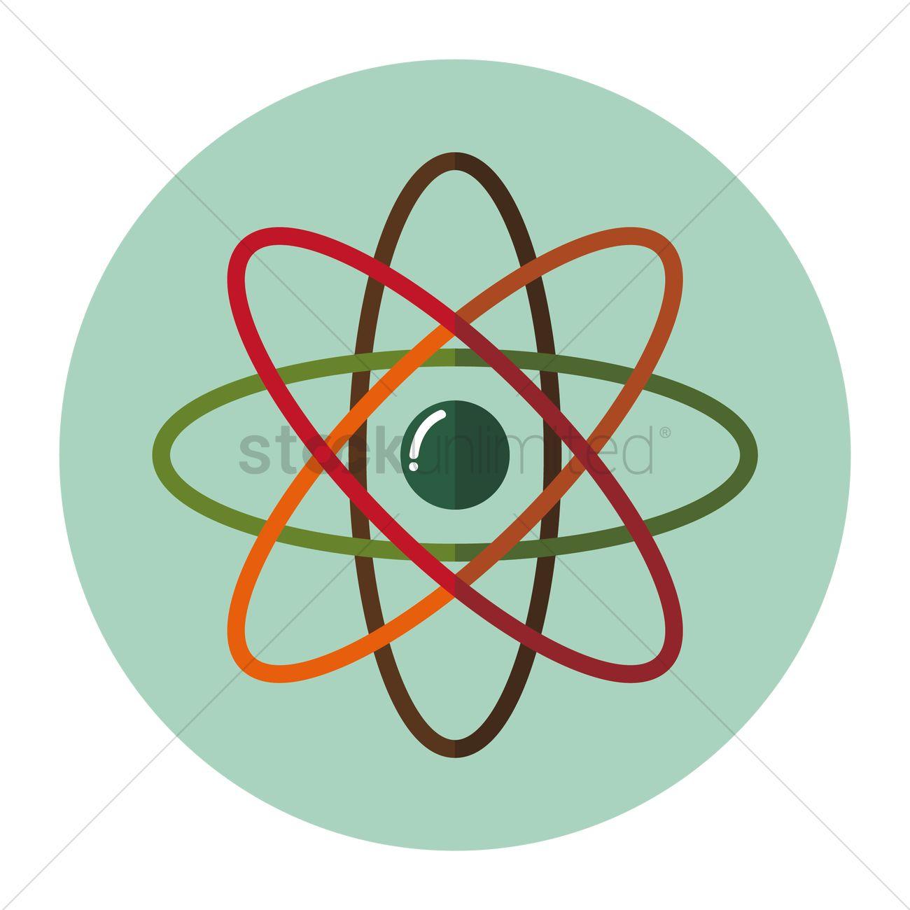 1300x1300 Free Atom Vector Image