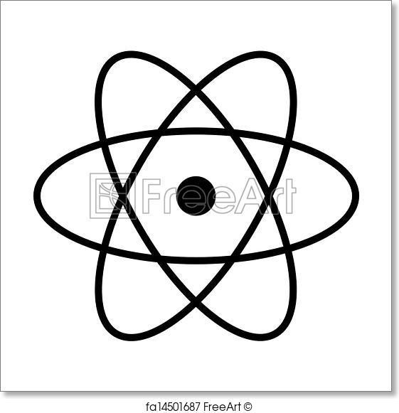 561x581 Free Art Print Of Atom Vector Freeart Fa14501687